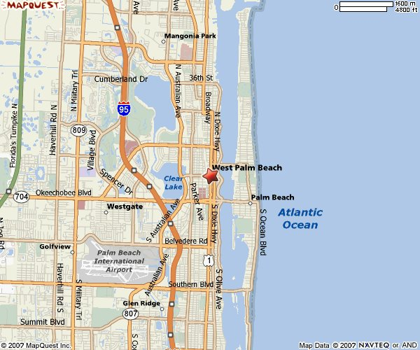 City Map West Palm Beach Florida